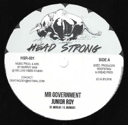 Junior Roy - Mr Government / Dub (Head Strong) 10""
